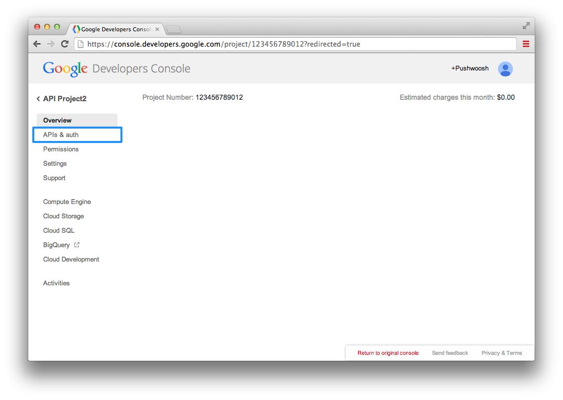 Android GCM API Configuration