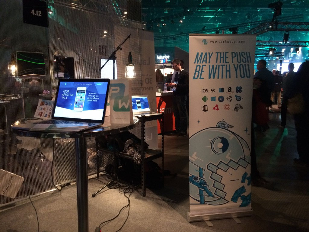 Pushwoosh Booth 4.12 at Slush