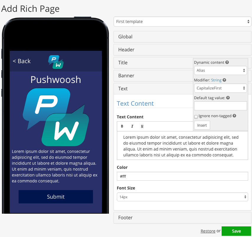 Pushwoosh___Rich_Pages___Add_Page
